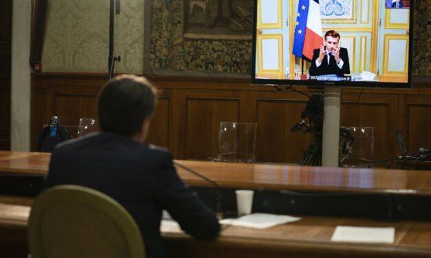 Covid, video incontro Conte-Macron