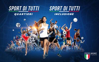Finanziamenti rivolti alle associazioni sportive da parte di Sport e salute SpA, società pubblica a supporto del CONI