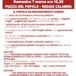 Reggio Calabria, manifestazione in Piazza del Popolo per un piano vaccinale pubblico, efficiente e trasparente