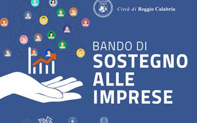 Reggio Calabria, sostegno alle imprese danneggiate dagli effetti dell'emergenza COVID-19