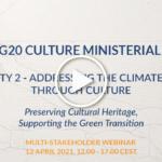 G20, al via il 9 aprile il ciclo di webinar sulla protezione del patrimonio culturale