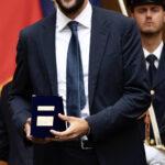 Gli Azzurri e Matteo Berrettini a Palazzo Chigi ricevuti dal Presidente Draghi