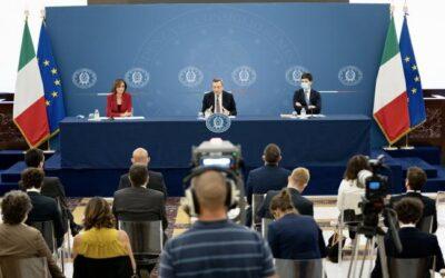 Misure urgenti per fronteggiare l'emergenza COVID, conferenza stampa del Presidente Draghi