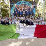 Il Presidente della Repubblica incontra i Campioni d'Europa insieme a Matteo Berrettini
